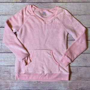 Secret Treasures Soft Fuzzy Pink Leisure Top, Lg